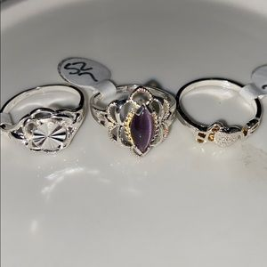 Vintage lot of 3 rings